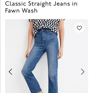 EUC Madewell Classic Straight in Fawn Wash 👖